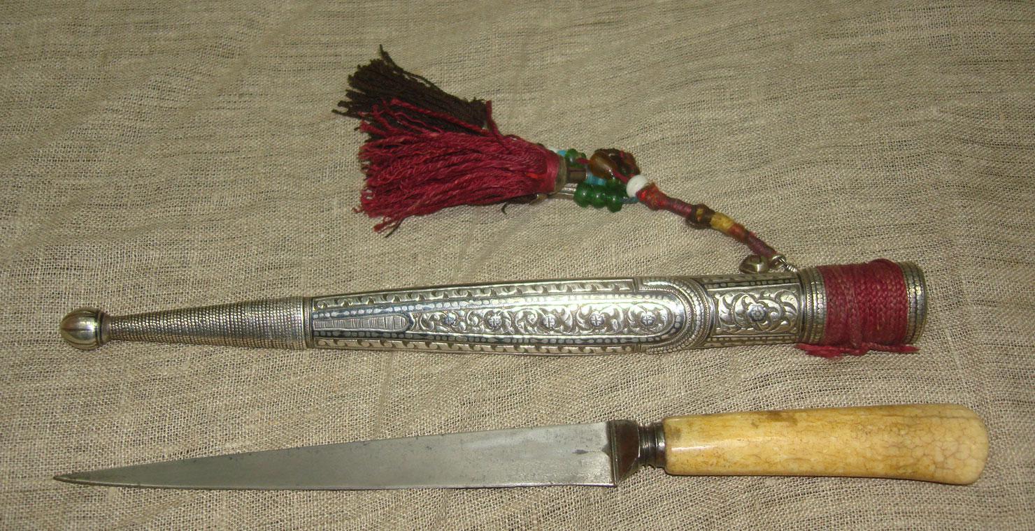 Нож булатный кавказской работы, XIX века