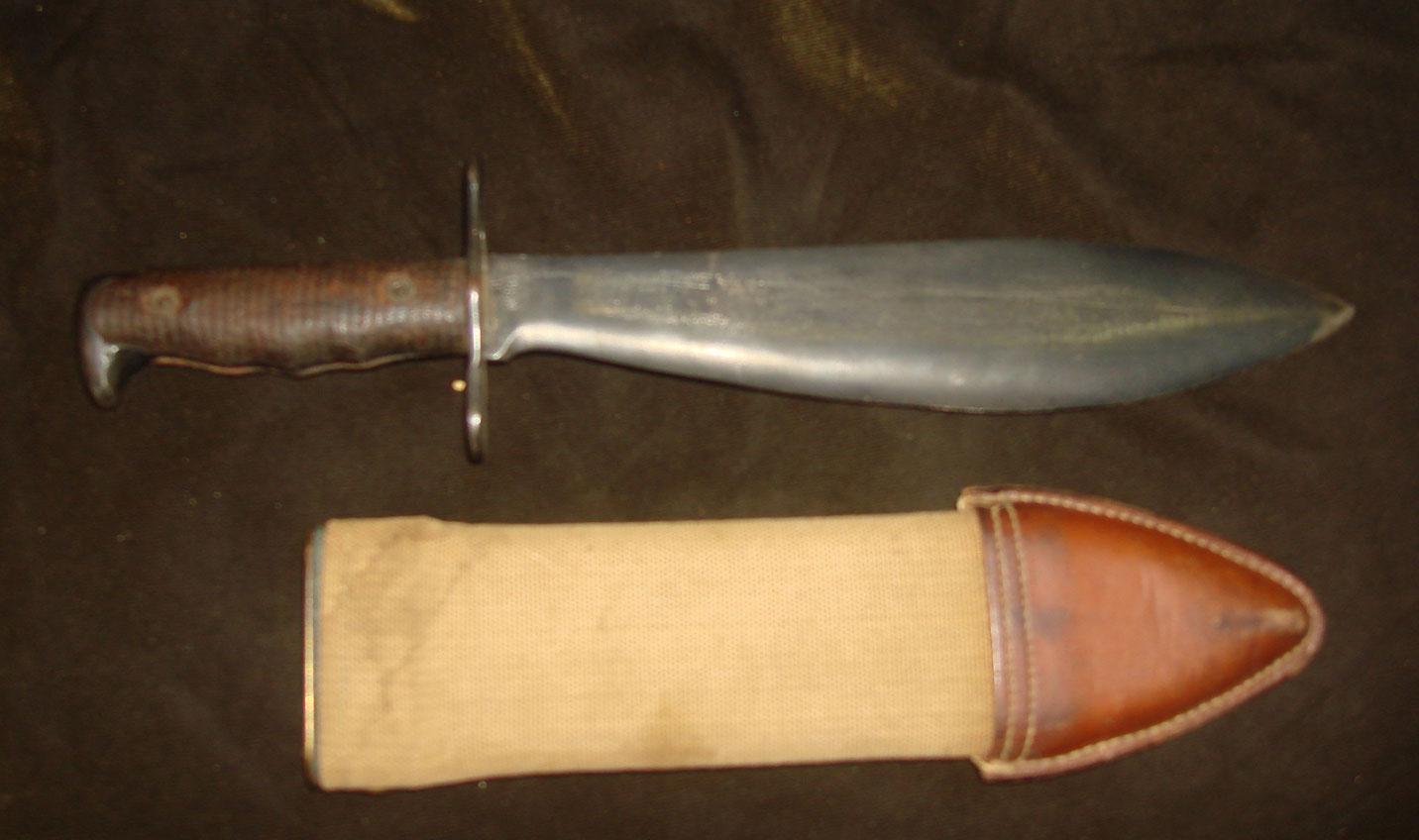 Американский боевой нож-тесак образца 1918 года