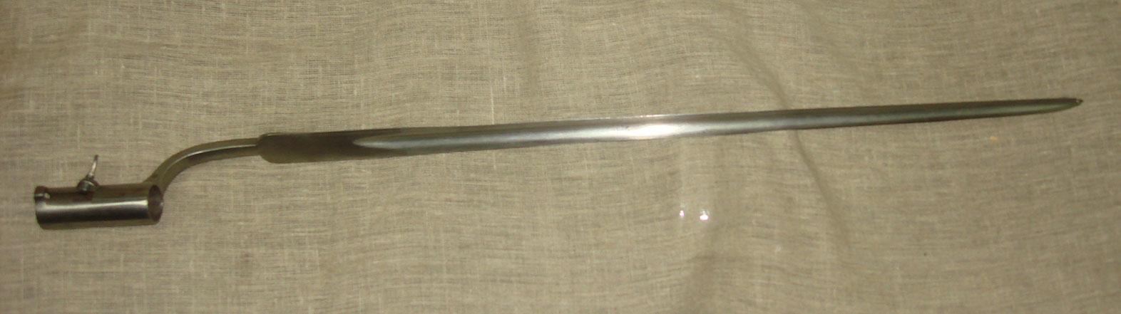 Штык к шведскому пехотному ружью образца 1799 года.